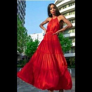 Zara Ruffled Maxi Dress